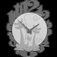 CALLEADESIGN◆Uhr mit Katzen◆猫と一緒に壁掛け時計( アルミ)◆トリエステ