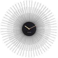 カールソン◆KARLSSON KA5818BK◆デザイン 掛け時計(黒)◆60㎝◆北欧時計