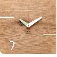 HUAMET◆CH51-D-02◆本物のオーク材スクエア・木目のデザイン③壁掛け時計◆南チロル