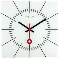 NEXTIME◆NEXT 8636WI◆Stazione・壁掛け時計(ホワイト)◆35 x 35 x 3.3cm◆エヴァルト・ウィンケルバウアー