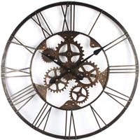 ローウェル◆Lowell W7878◆機械式ギアデザイン壁掛け時計◆クラシック壁掛け時計