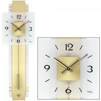 アームス ◆AMS 7301◆真鍮とガラスの 振り子時計◆ドイツ製クォーツムーブメント
