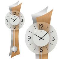 アームス ◆AMS 9382◆波型、振り子時計、掛け時計◆ドイツ製クォーツムーブメント