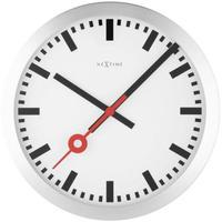 """NEXTIME◆NEXT 3999ST◆""""STATION""""ステーション 壁掛け時計(白)◆35 cm◆サイレントクォーツ"""