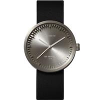 レフ アムステルダム◆LEFF amsterdam Tube D42◆腕時計◆スチール、ブラックレザー
