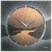 アームス ◆AMS 9513◆スレート(粘板岩) 壁掛け時計(絵画デザイン)◆ドイツ製クォーツムーブメント
