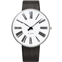 アルネ・ヤコブセン◆ARNE JACOBSEN 53302-2001 ◆ローマン腕時計◆Leather 40mm