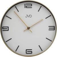 JVD◆HC19.2◆シンプルウォールクロック壁掛け時計◆ホワイト◆チェコ共和国、東欧時計