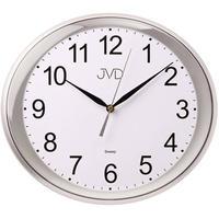 JVD◆HP664.6◆シンプル楕円形の壁掛け時計◆27cm x 30cm◆チェコ共和国、東欧時計