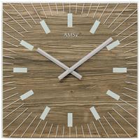 アームス ◆AMS 9578◆ウォルナット木目プリント、掛け時計◆ドイツ製クォーツムーブメント