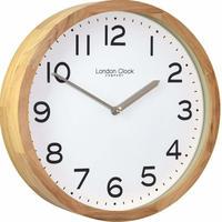 ロンドンクロック◆LONDON CLOCK  1234◆木製ケースウォールクロック壁掛け時計◆WOODEN CASE WALL CLOCK