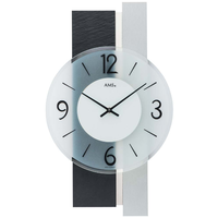 アームス ◆AMS 9555◆アルミニウムリングと粘板岩風の掛け時計◆ドイツ製クォーツムーブメント