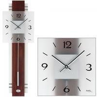アームス ◆AMS 7303◆ウォルナットとガラスの振り子時計◆ドイツ製クォーツムーブメント