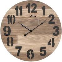 アームス ◆AMS 9569◆ウッディーデザイン 掛け時計◆ドイツ製クォーツムーブメント