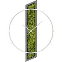 アームス ◆AMS 9605◆アルミニウムリングと木製ケース+ドライモスの掛け時計◆ドイツ製クォーツムーブメント