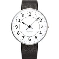アルネ・ヤコブセン◆ARNE JACOBSEN 53402-2001◆ステーション腕時計◆レザー40mm