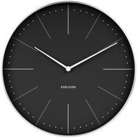 カールソン◆KARLSSON  KA5681BK◆ノーマン壁掛け時計(黒)◆Normann Wall Clock