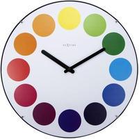 NEXTIME ◆NEXT3166◆ドットドーム時計 掛け時計 (白)◆Nextime Dots Dome Clock