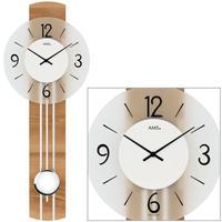 アームス ◆AMS 7263◆ブナ調MDF、振り子時計◆ドイツ製クォーツムーブメント