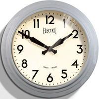 ニューゲート◆Newgate GWL44LGY◆50代のスタイル掛け時計(グレー)◆50s Electric Wall Clock