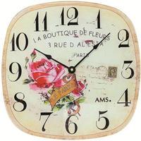 アームス ◆AMS 9481◆薔薇柄デザイン 掛け時計◆ドイツ製クォーツムーブメント