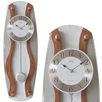 JVD◆N16067 / 11◆モダンなデザインの壁掛け時計◆振り子時計◆チェコ共和国、東欧時計