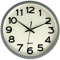 JVD◆HX2413.1◆シンプルウォールクロック 壁掛け時計 (ホワイト)◆チェコ共和国、東欧時計