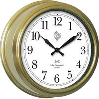 JVD◆TS1238.2◆ウォールクロック、壁掛け時計◆ゴールデン◆チェコ共和国、東欧時計