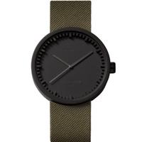 レフ アムステルダム◆LEFF amsterdam Tube D42◆腕時計◆ブラック、緑のコーデュラ