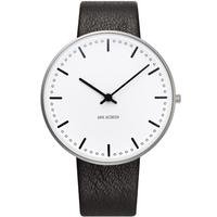 アルネ・ヤコブセン◆ARNE JACOBSEN 53202-2001◆シティホール腕時計◆Leather 40mm◆ROSENDAHL