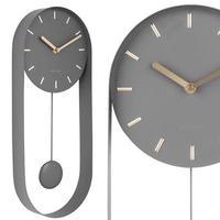 カールソン◆KARLSSON KA5822GY◆デザイン 振り子チャーム掛け時計(グレー)◆Pendulum Charm