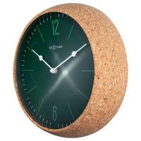 NEXTIME◆NEXT  3509GN◆コルク 壁掛け時計◆ ø 30 cm x 8,4 cm◆Cork&Green