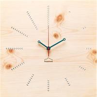 HUAMET◆CH41-E-12◆松材クスエア・木目のデザイン②壁掛け時計◆南チロル
