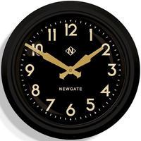 ニューゲート◆Newgate GWL15MK◆50代のスタイル掛け時計(黒)◆50s Electric Wall Clock