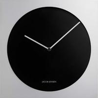 ジェイコブ・ジェンセン◆JACOB JENSEN 318◆ミニマル壁掛け時計・ブラック&シルバー◆北欧デザイン