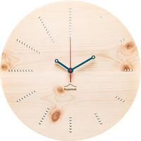 HUAMET◆CH40-E-12◆松材ラウンド・木目のデザイン②壁掛け時計◆南チロル