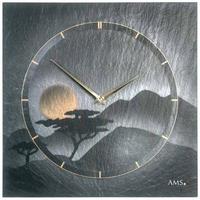 アームス ◆AMS 9525◆スレート(粘板岩) 壁掛け時計(絵画デザイン)◆ドイツ製クォーツムーブメント