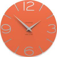 CALLEADESIGN◆Orange◆WANDUHR SMILE  スマイル掛け時計 (オレンジ)◆トリエステ