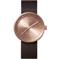 レフ アムステルダム◆LEFF amsterdam Tube D38◆腕時計◆ローズゴールド、ブラウンレザー