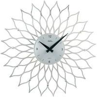アームス ◆AMS 9358◆サンフラワーデザイン壁掛け時計(シルバー)◆ドイツ製クォーツムーブメント
