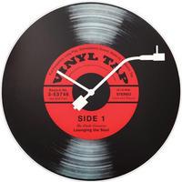 """NEXTIME◆NEXT  8141◆""""Vinyl Tap"""" ビニールタップ掛け時計◆43 cm◆Schallplatten-Design"""