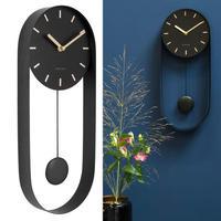 カールソン◆KARLSSON KA5822BK◆デザイン 振り子チャーム掛け時計(黒)◆Pendulum Charm