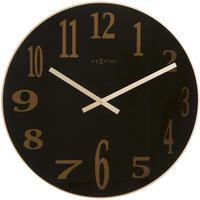 NEXTIME◆NEXT  2472ZW◆スモーキーミラーガラス 壁掛け時計◆ø  43 x 3 cm◆Mirror Glass
