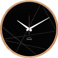 HUAMET◆CH50-C-14◆オーク材ラウンド・グラビア壁掛け時計◆南チロル