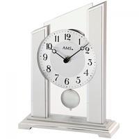 アームス ◆AMS 1169◆ガラスの振り子時計、置き時計◆ドイツ製クォーツムーブメント