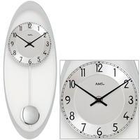 アームス ◆ AMS 7416◆クリアガラス 振り子時計 掛け時計◆ドイツ製クォーツムーブメント