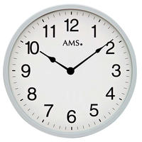 アームス ◆AMS 9493◆モダンウォールクロック(グレー)◆シンプル掛け時計