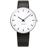 アルネ・ヤコブセン◆ARNE JACOBSEN 53201-1601◆シティホール腕時計◆Leather 34mm◆ROSENDAHL
