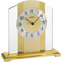 アームス ◆AMS  1119◆ゴールドカラー デザイン置き時計◆ドイツ製クォーツムーブメント