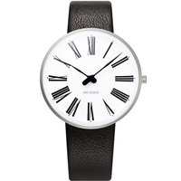 アルネ・ヤコブセン◆ARNE JACOBSEN 53301-1601◆ローマン腕時計◆Leather 34mm◆ROSENDAHL